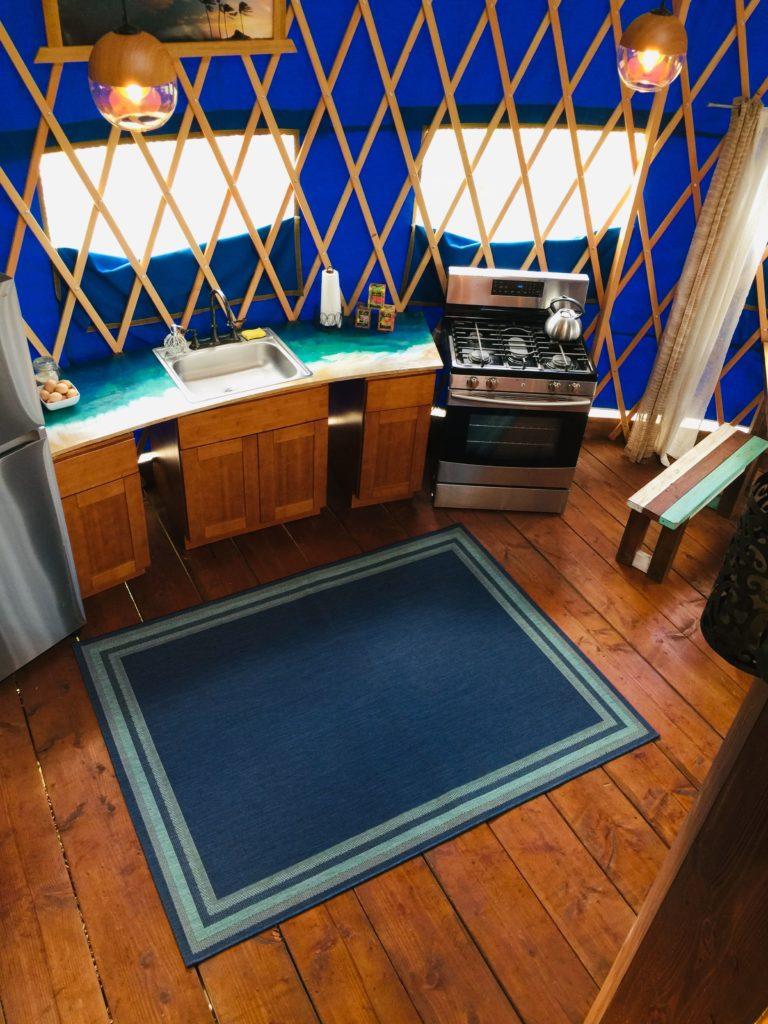 Yurt 30 foot Kitchen